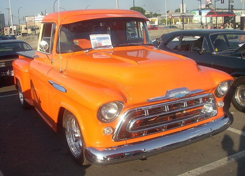 57 Chevrolet Task Force Orange Julep 10 Chevrolet Task Force
