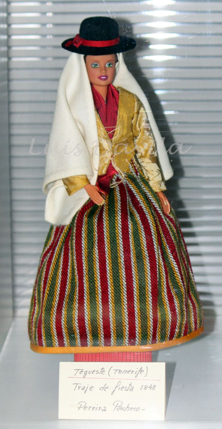 Tradicional de Vestimenta Muñeca con Isla Luis Dávila la traje por Viera realizada de Tenerife HASHwPq0p