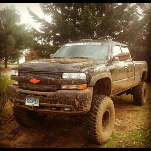 Lifted Chevy Trucks With Hunting Camo Mudding Google
