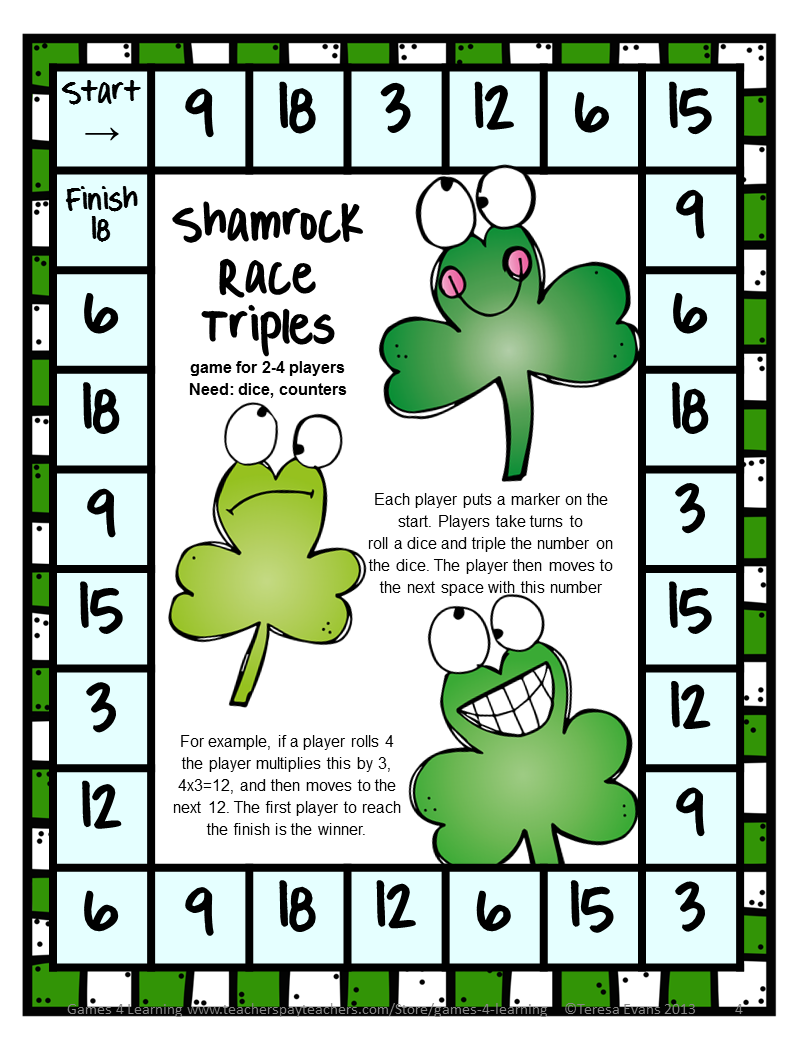 Fun Games 4 Learning: St. Patrick\'s Day Math FREEBIES | St ...
