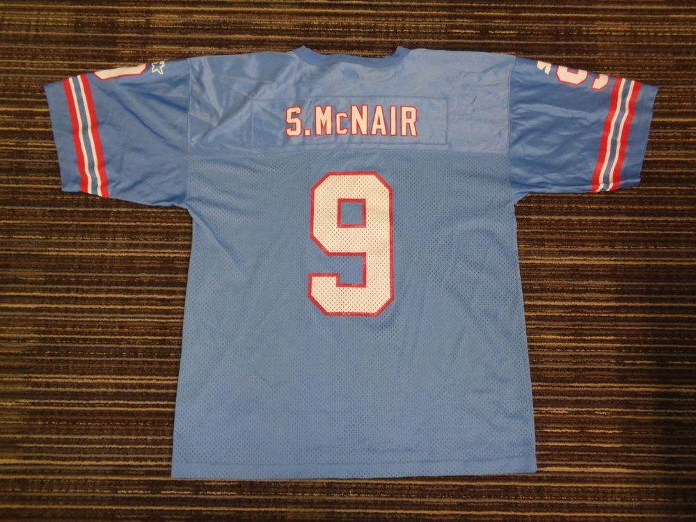 on sale c67f8 e4df5 PRISTINE STEVE McNAIR #9 HOUSTON TENNESSEE TITANS OILERS ...