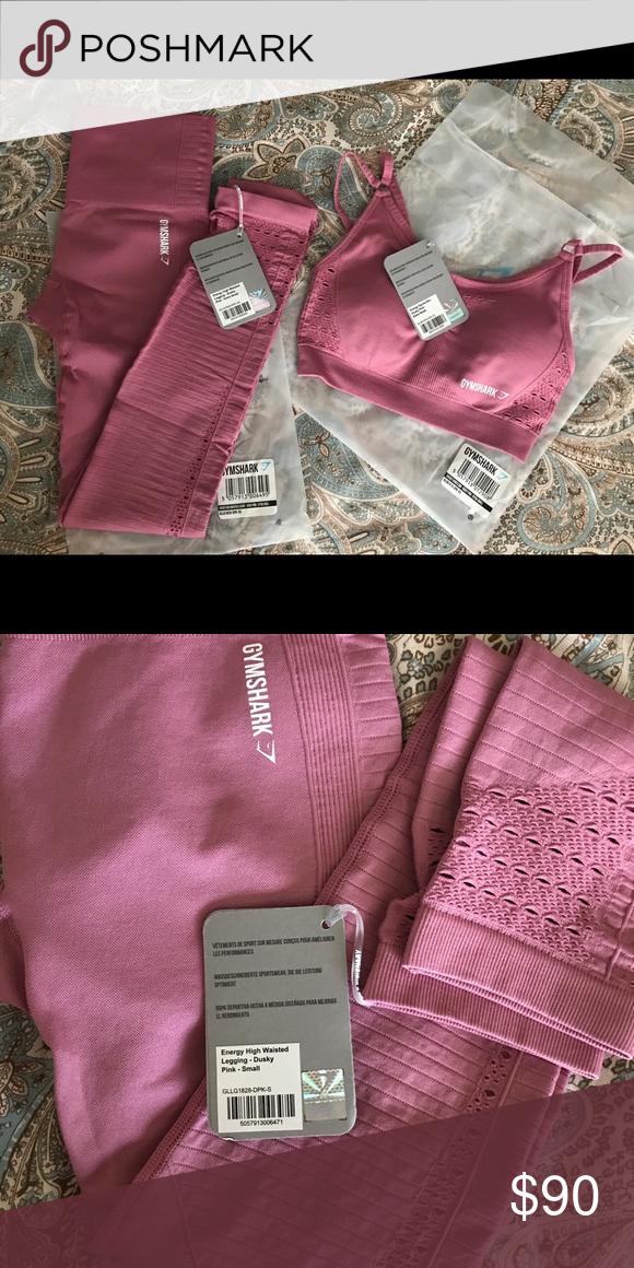 2ec3bf25d5 Gymshark Energy + Seamless set Gymshark energy + seamless Dusky pink XS in  legging and sports bra S in leggings Gymshark Pants Leggings