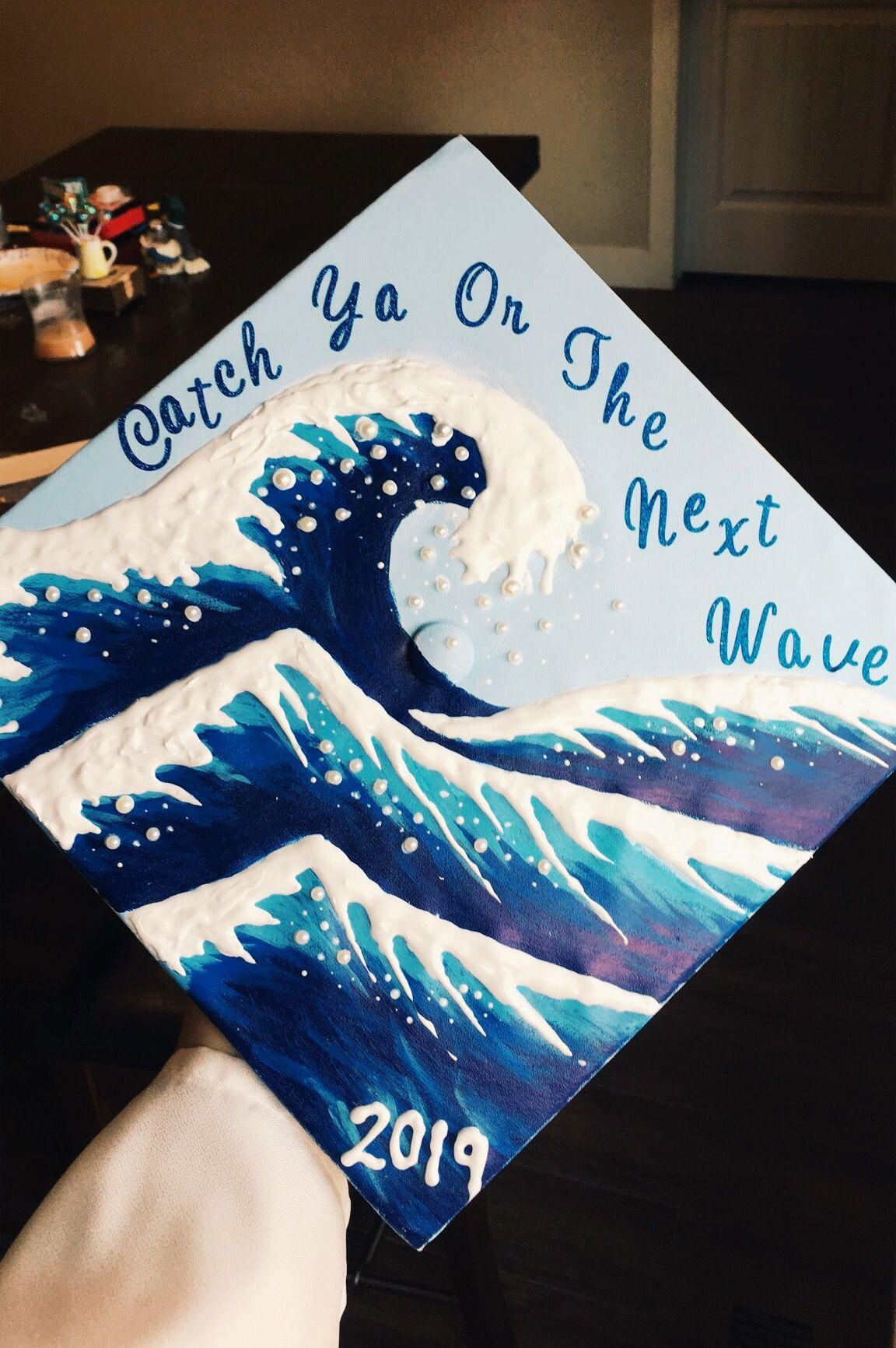 Graduation Cap! #ocean #wave #gradcapdesign #vibe