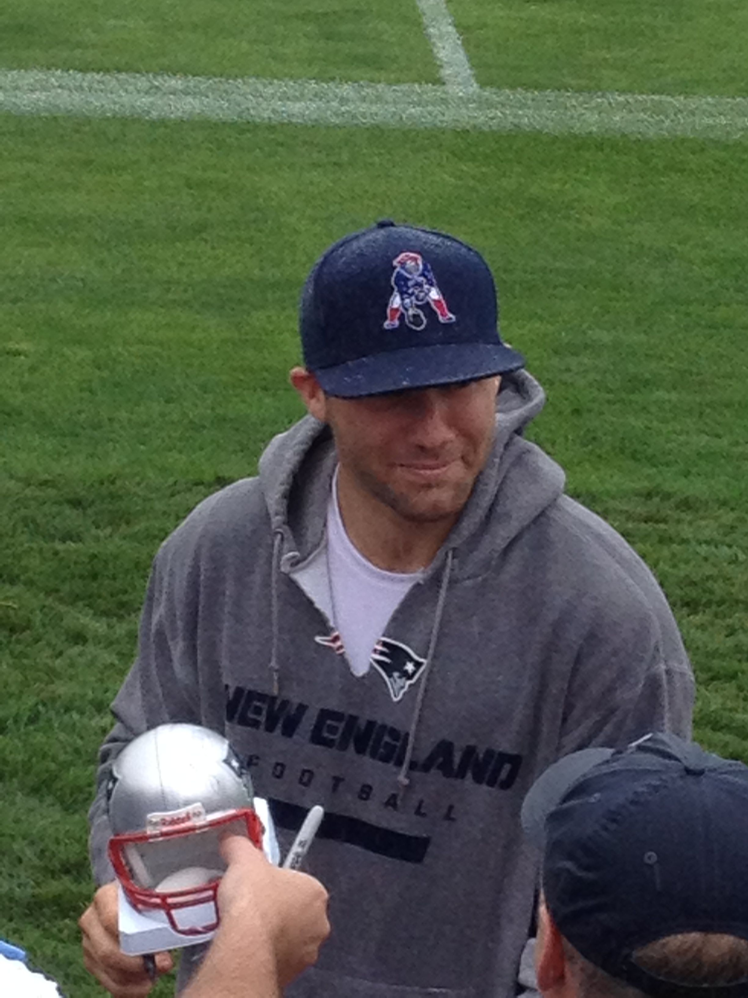My Pic Of Julian Edelman From Training Camp Happy Day Julian Edelman Lake George Camping Edelman