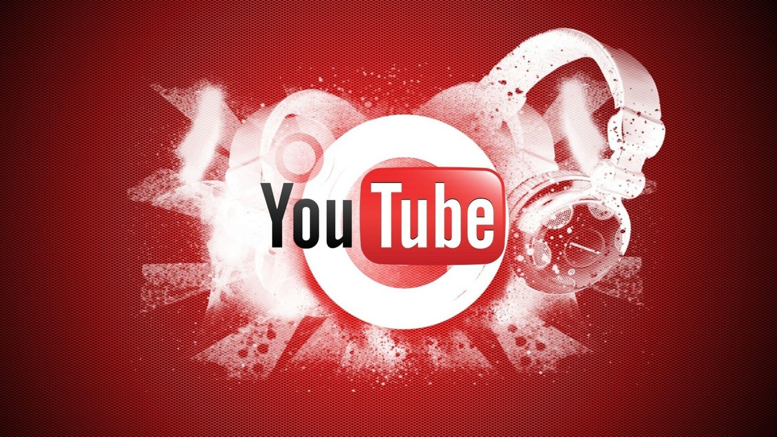 2560x1440 Wallpaper youtube, video hosting, logo, google
