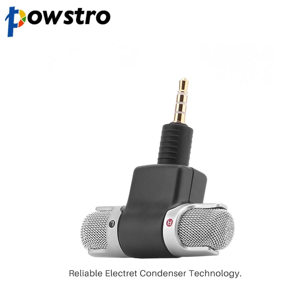 Powstro Mini Recording Microphone Portable With 3.5mm