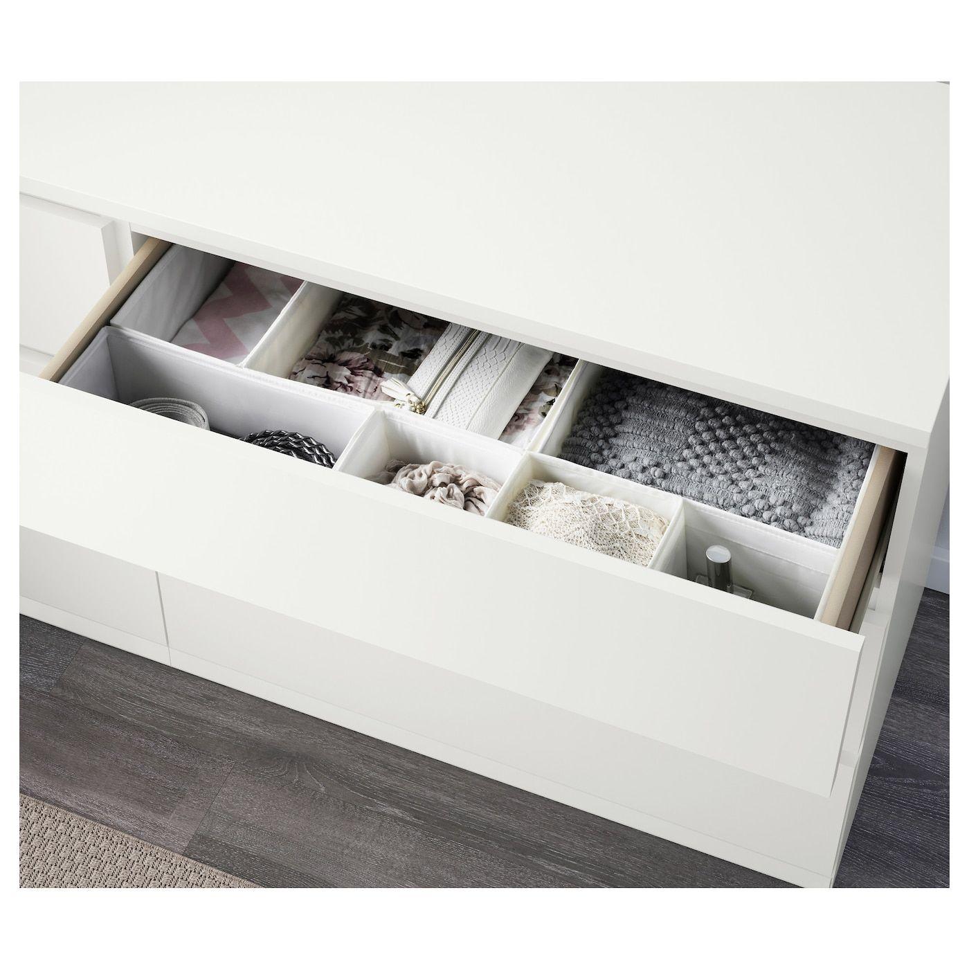 Cassettiera Per Armadio Ikea malm cómoda 6 cajones nel 2020