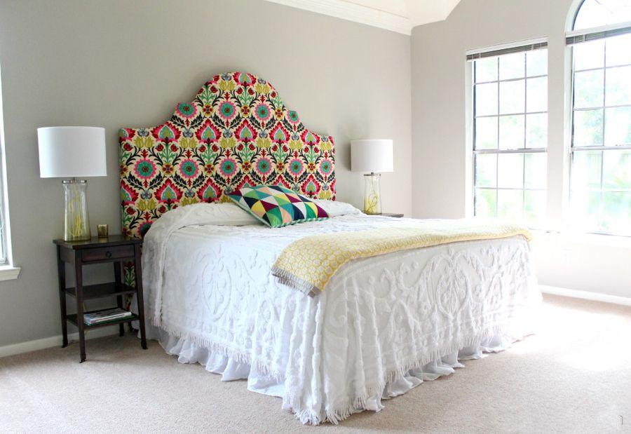 cabecero de cama hecho con tela cama Pinterest Cabecero Camas