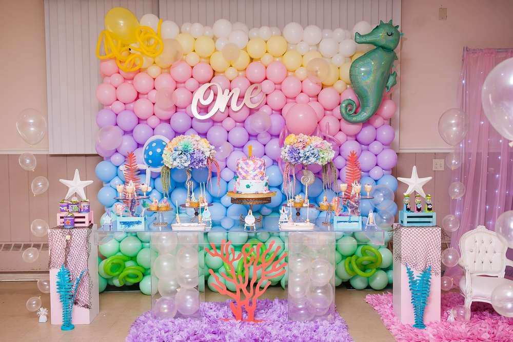 Under The Sea Birthday Party Ideas 1st Birthday Party For Girls