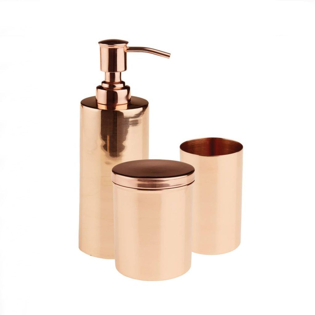 rose full copper marble accessories effect set bathroom fantastic pcs ceramic ideas of gold size with