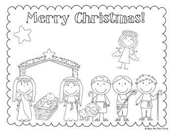 The Christmas Story Nativity, Jesus Coloring & Writing