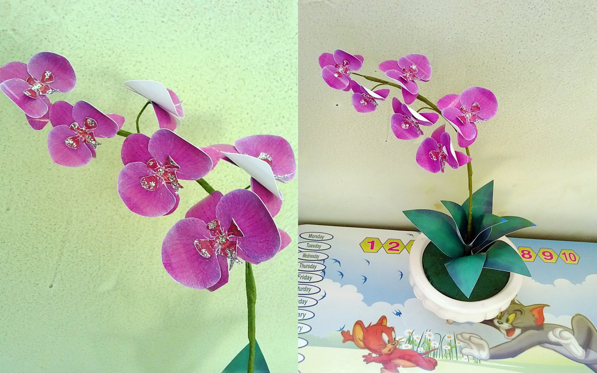 How To Make Phalaenopsis Orchids Paper Flower Hng Dn Lm Hoa