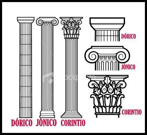 Columnas Griegas Mas Columnas Griegas Columnas Arquitectura Grecia Arquitectura