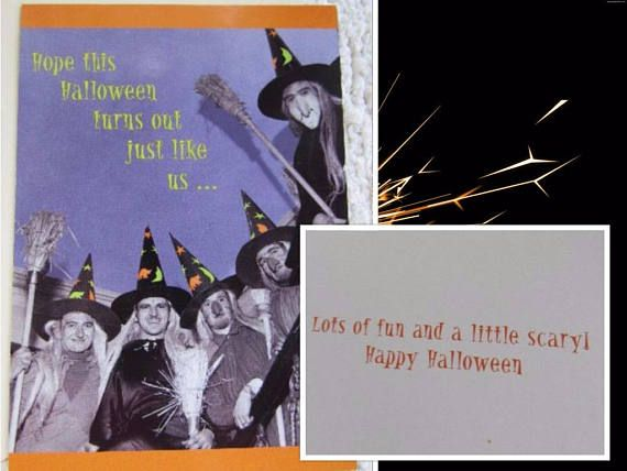 Funny Vintage Real Photo HALLOWEEN Greeting Card MARCEL