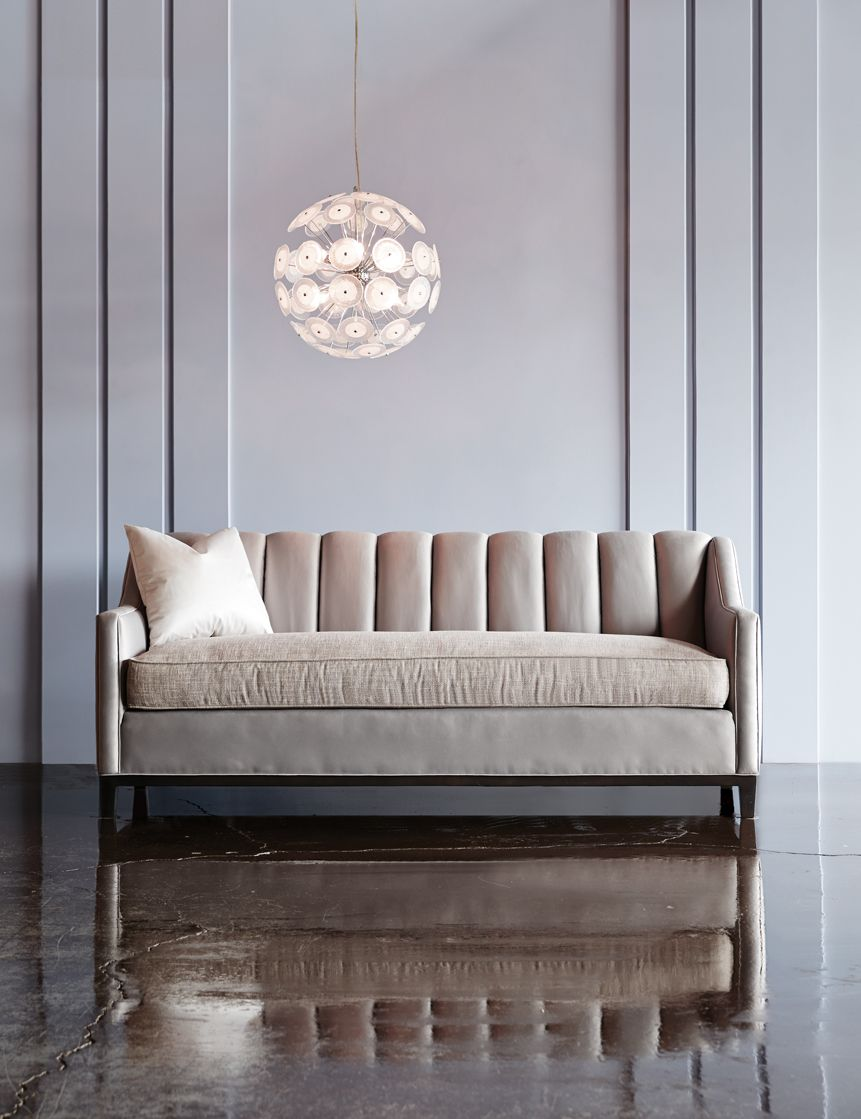 Luxury furniture   Neville Channel Back Sofa – The Neville Collection features clean, modern lines with elegantly sloping track arms,   www.bocadolobo.com/ #luxuryfurniture #designfurniture