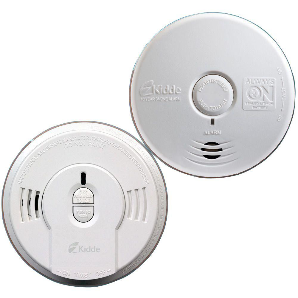 Kidde 10 Year Battery Operated Twin Pack Ionization And Photoelectric Smoke Alarm Smoke Alarms Alarm Twin Pack