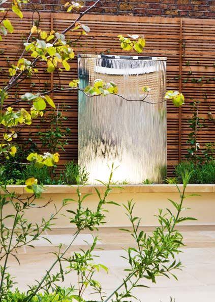 Eine Wasserwand Als Ideales Indoor Wasserspiel