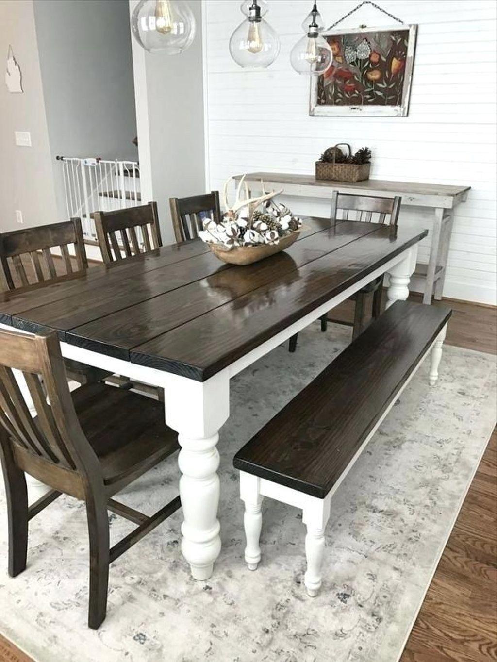 Wonderful Farmhouse Style Dining Room Design Ideas12   Tapis salle ...