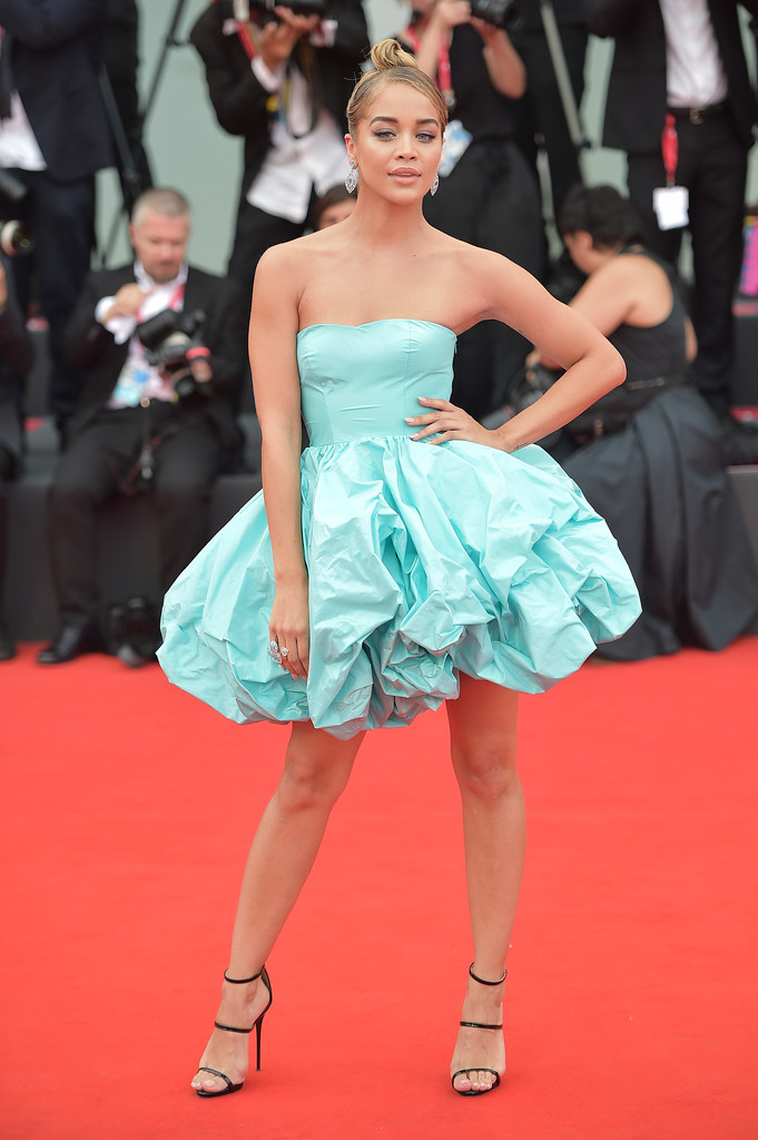 The Most Glamorous Looks From The 2019 Venice Film Festival In 2020 Bubble Dress Celebrity Dresses Jasmine Sanders
