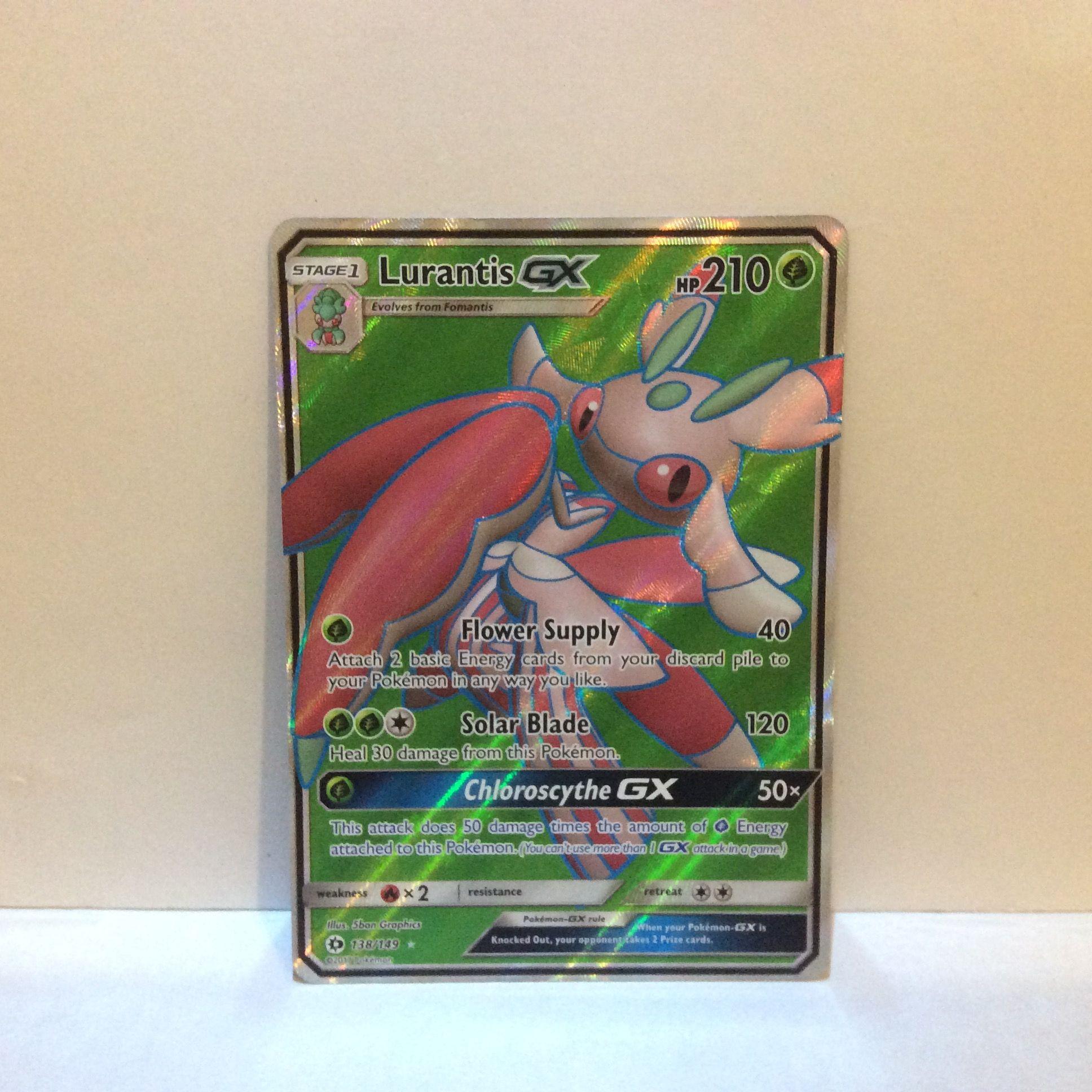 lurantis gx full art 138149 sun and moon 2017  pokemon