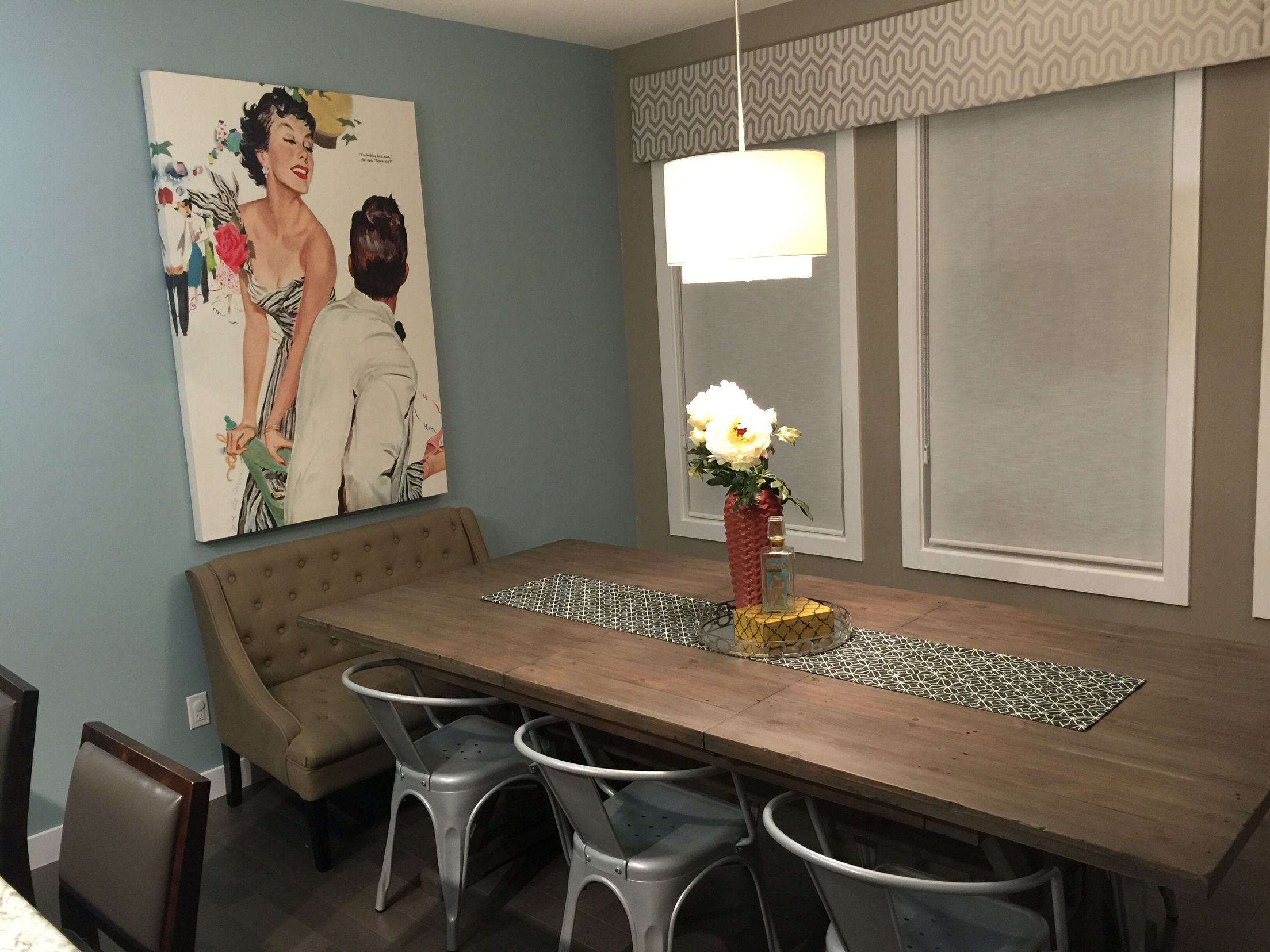 love my newly painted dining room - behr marquee gray wool mq6-4