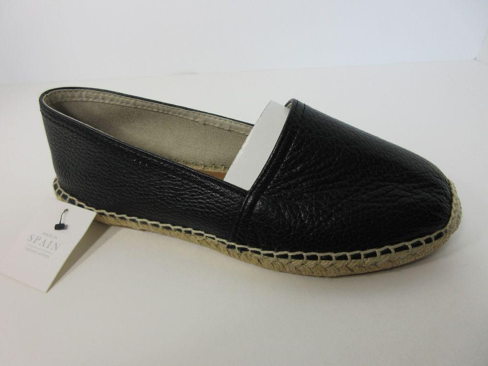 a8000106804 Maypol Anthropologie Womens Black Soft Leather Espadrille Flat Shoes 7.5 M  New  Maypol  Espadrilles  Casual
