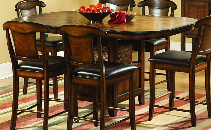 Homelegance Westwood 56x48 Counter Height Dining Table In Counter ...