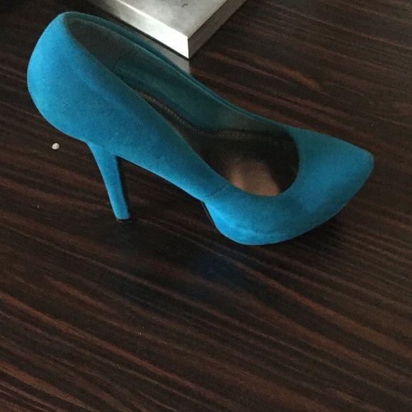 Heels Blue platform heel . Only worn a few times ! Anne Michelle Shoes Heels