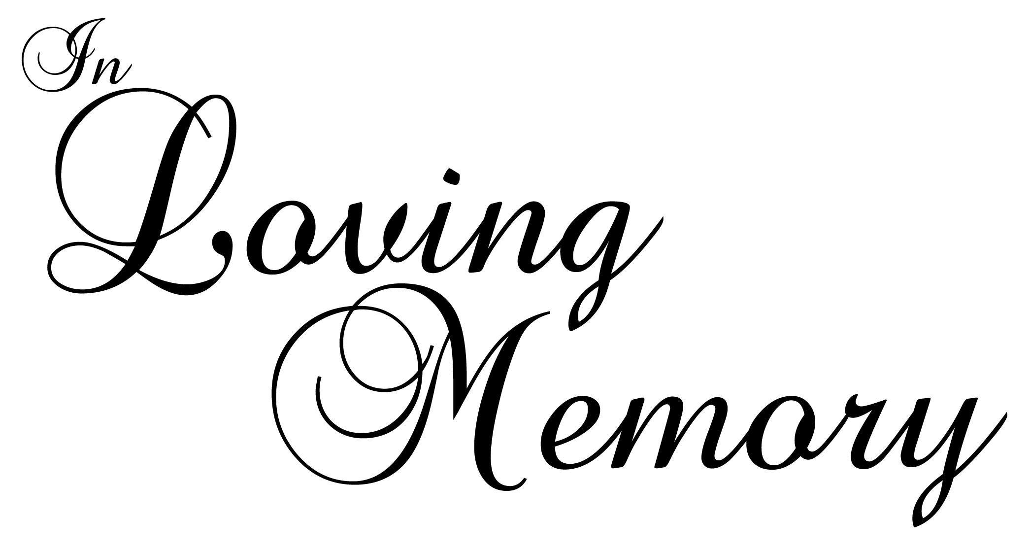 Loving Memory Clipart
