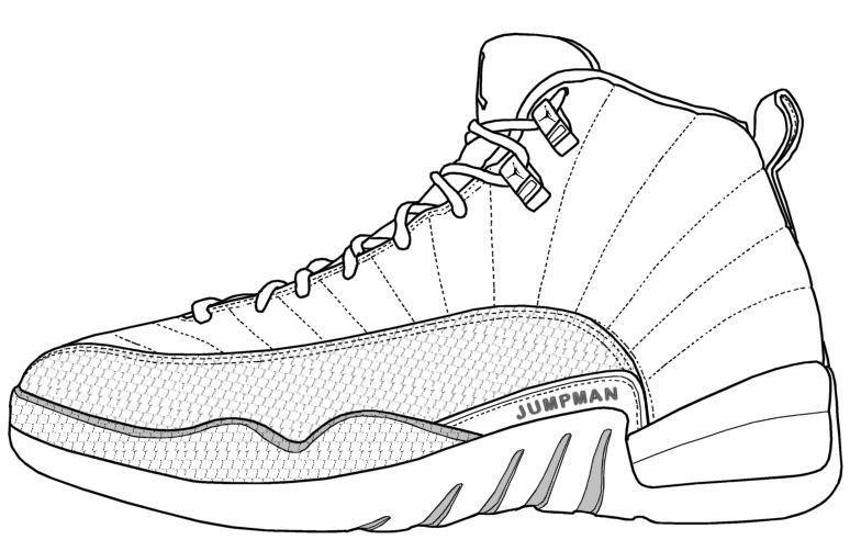 Download or print this amazing coloring page  Jordan Shoe - Coloring Pages  for Kids and for Adults 94a338256