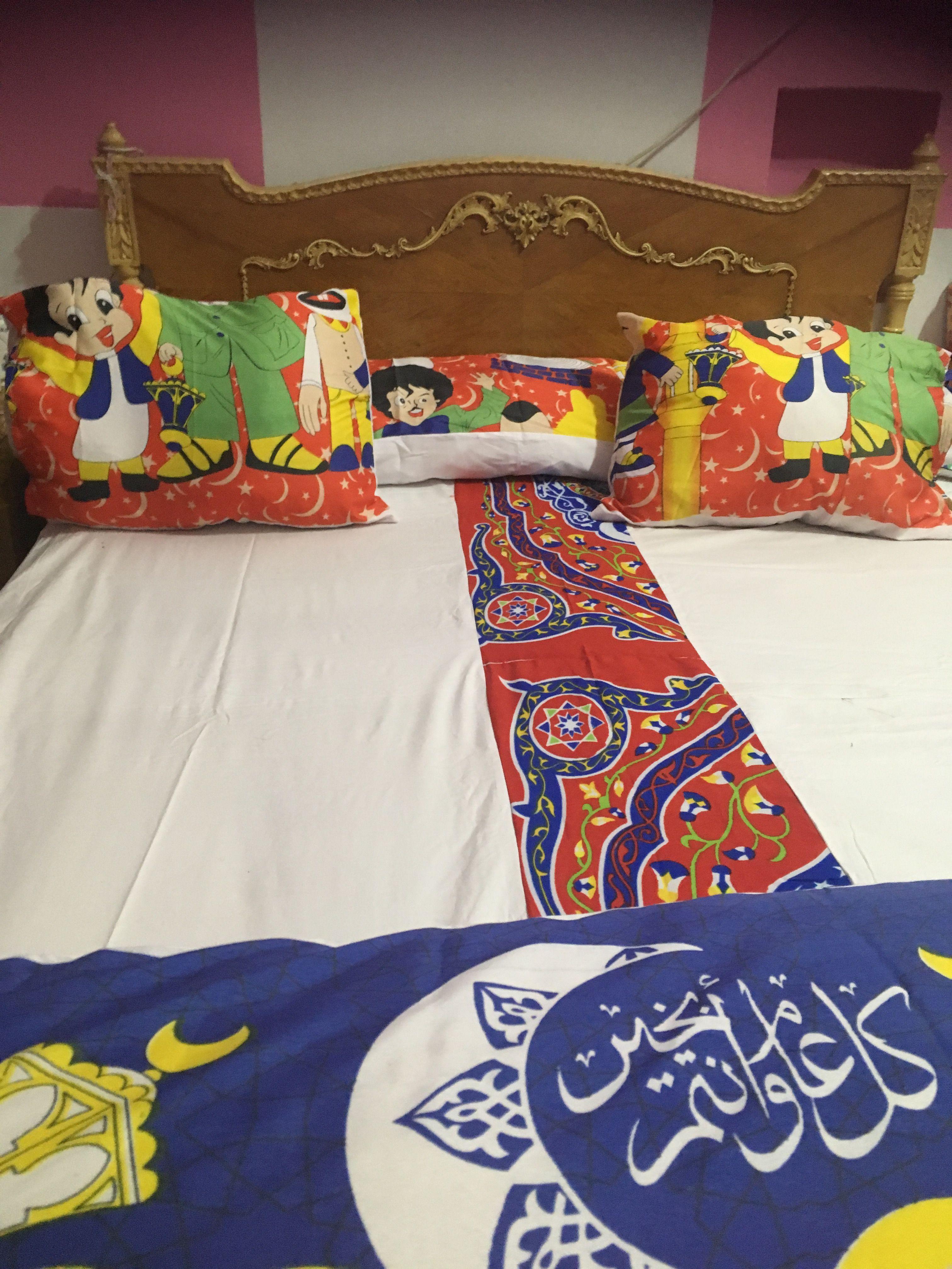 طقم سرير من روايح رمضان من القماش وقماش الخيامية أتمني يعجبكم Ramadan