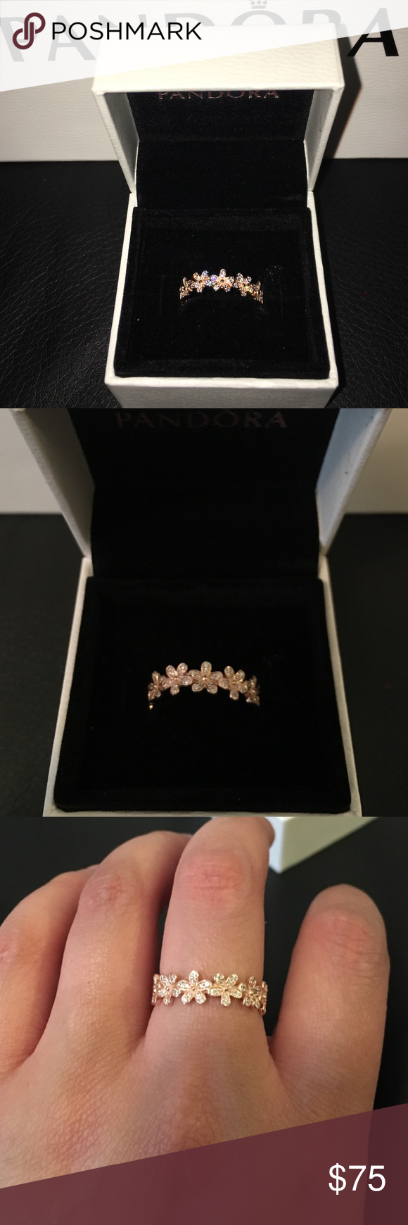 cff03b2f5 Pandora Rose gold dazzling daisy ring sz 7 New never used. Comes with box  and bag. Any questions pls ask. Ty Pandora Jewelry Rings