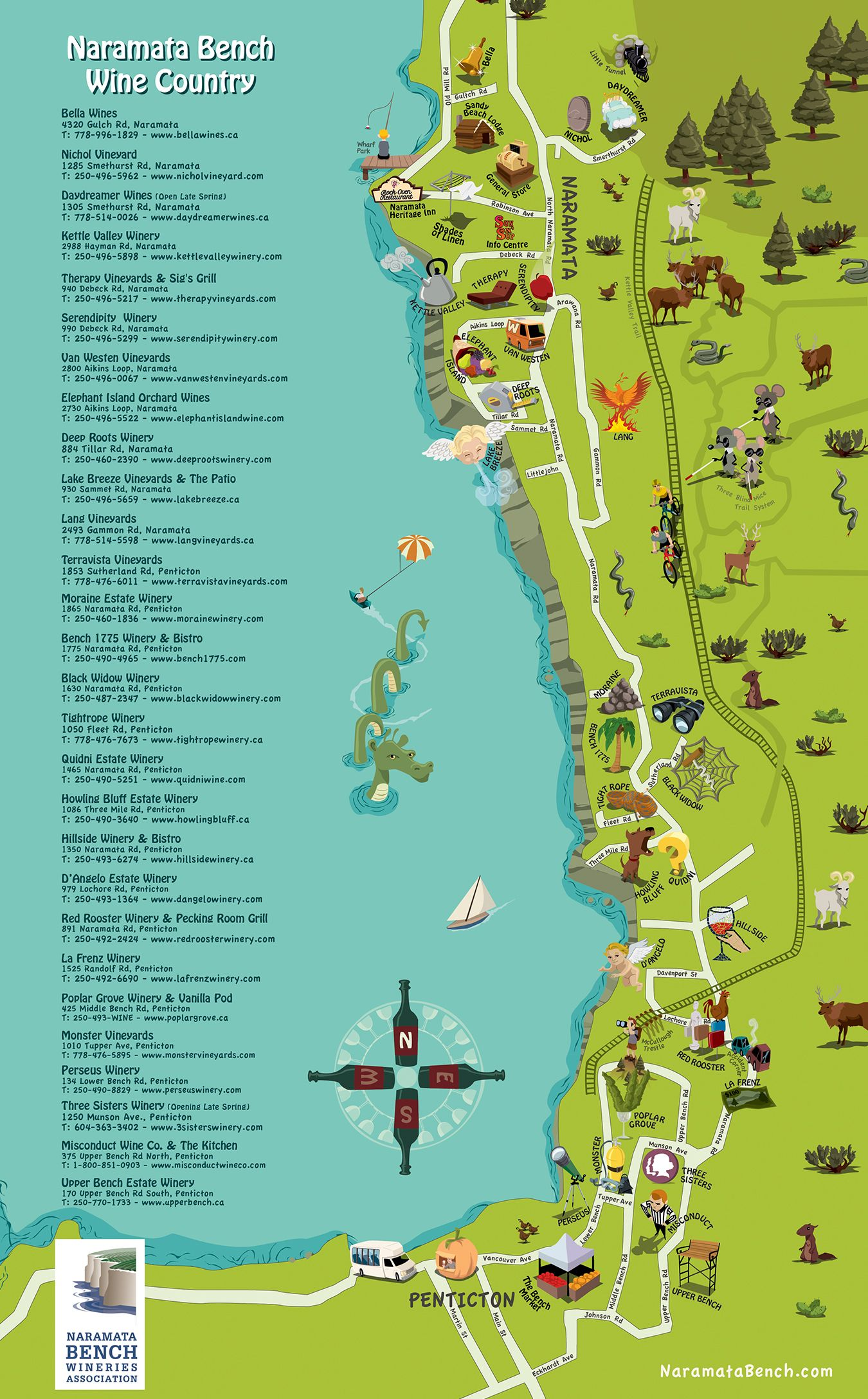 Naramata bench wineries association region map bc wine nbwa members win awards at all canadian wine championships gumiabroncs Images