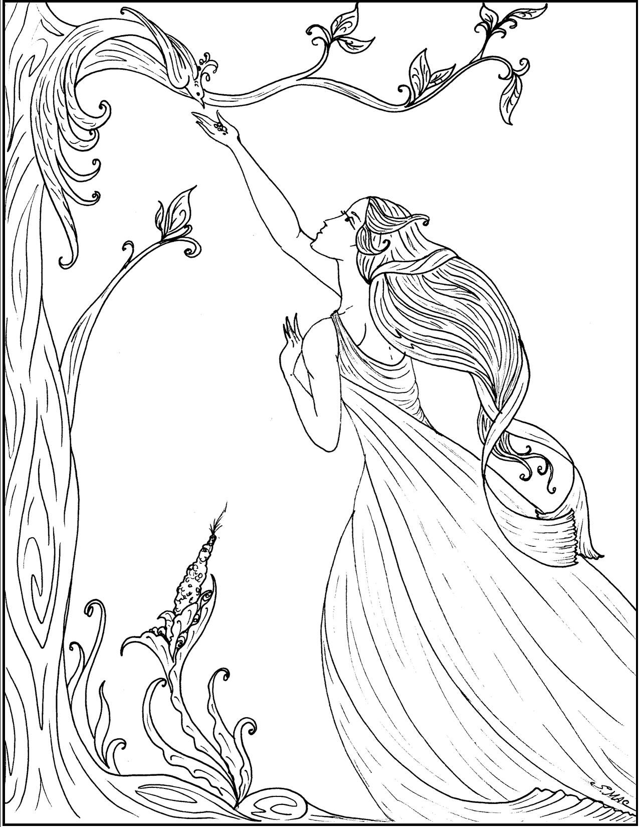 art nouveau coloring pages celebrate the beauty to be found in nature flowing lines and twisting curling vines create highly decorative images that spring
