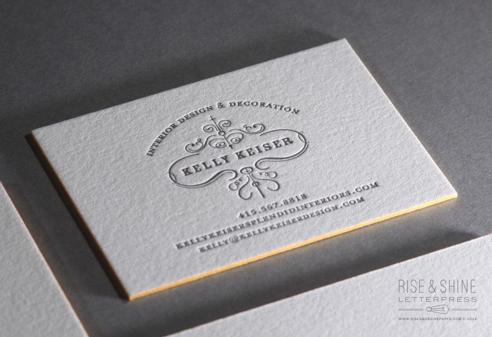 Letterpress Business Cards for Kelly Keiser Design | Printed by ...