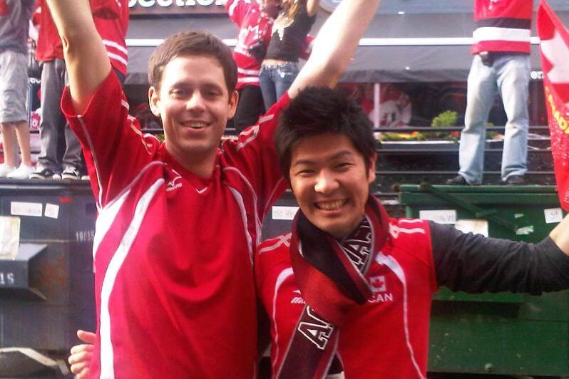 After Team Canada men's hockey won gold! Men's hockey