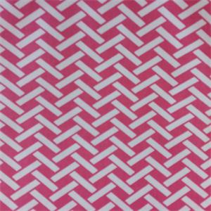 Rian Hot Pink Basket Design Cotton Drapery Fabric By Richtex
