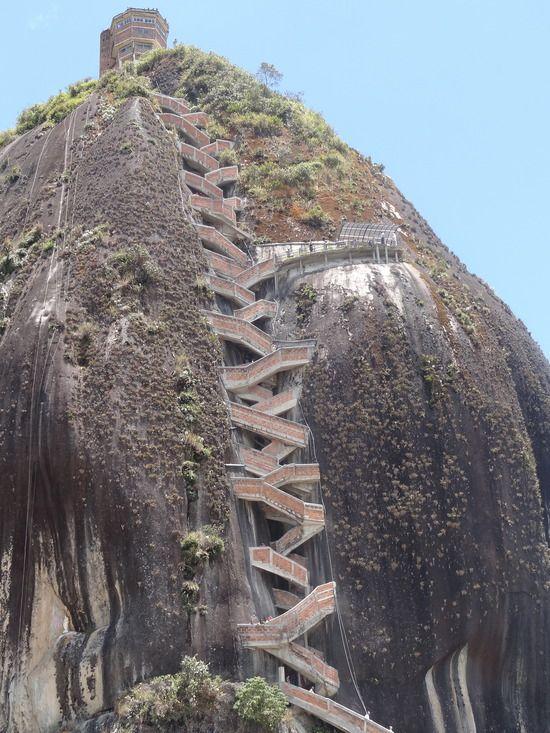 Dense Architecture Challenging Travel La Piedra Guatapé - A step up in amazing architecture la