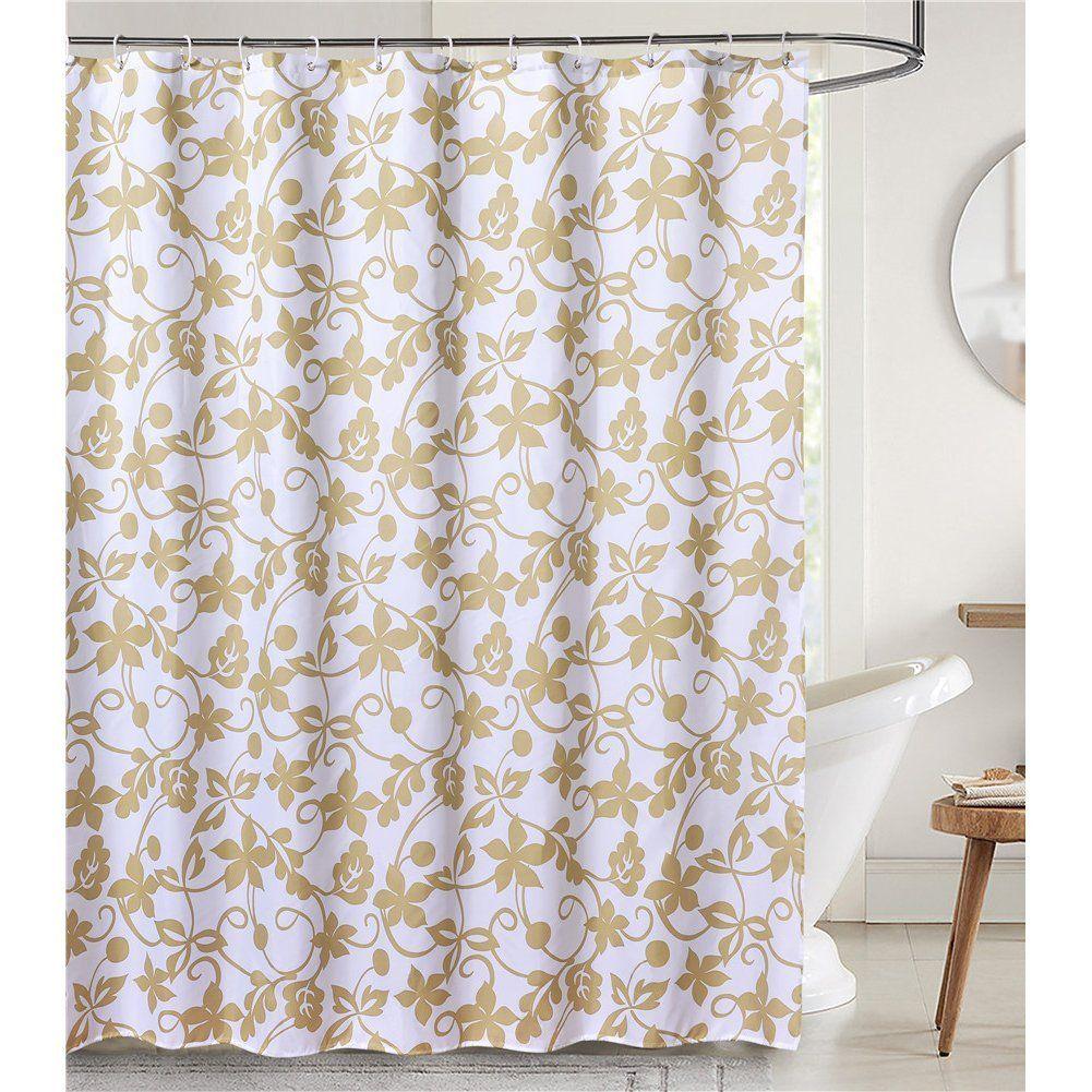 Amazon lanmeng fabric shower curtain classic paisley design