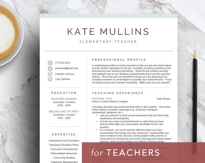 A teacher resume template designed by a teacher! Highlight your