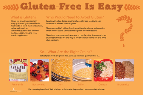 Gluten Free Poster For Celiac And Gluten Allergy 12x18 Simple Nutrition Gluten Free Diet Plan Food Allergies