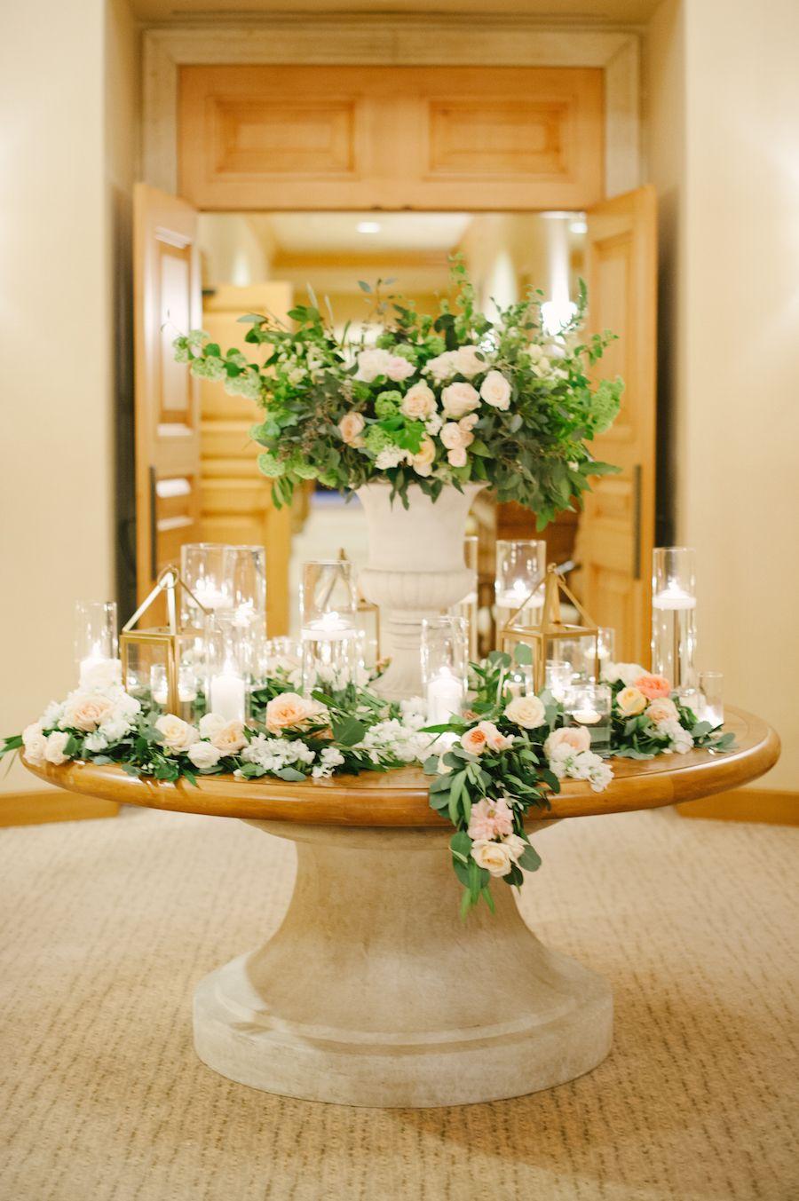 California Pastel GardenInspired Wedding Candle decor