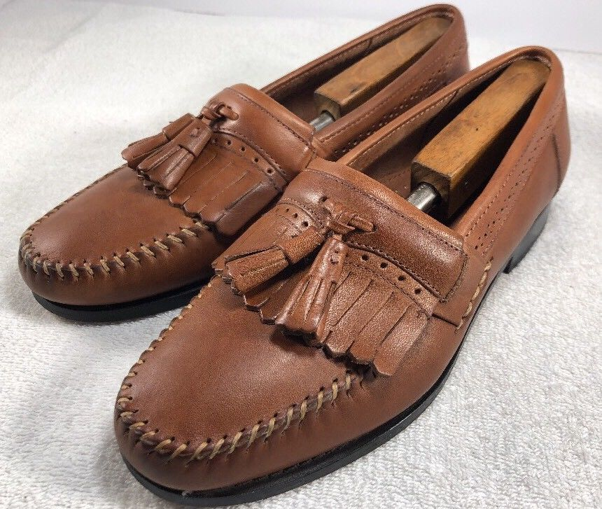 480d4d6e6a494 G.H Bass Weejuns Mens Jeremy Leather kiltie Tassel Loafers Brown Mens Sz 8D  US