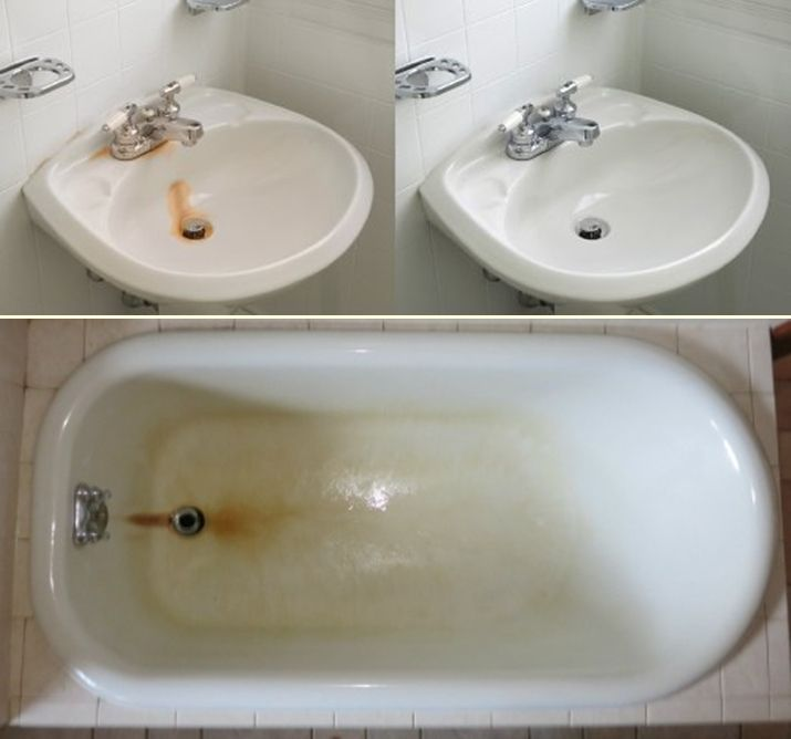 How To Clean Disgusting Orange Stains From Your Bathtub Cleaningtutorials Net Your Cleaning Solutions Bathtub Cleaning Solutions Cleaning Household