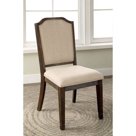 Furniture of America Alivia Transitional Fabric Dining Chair, Ivory, 2pk, White