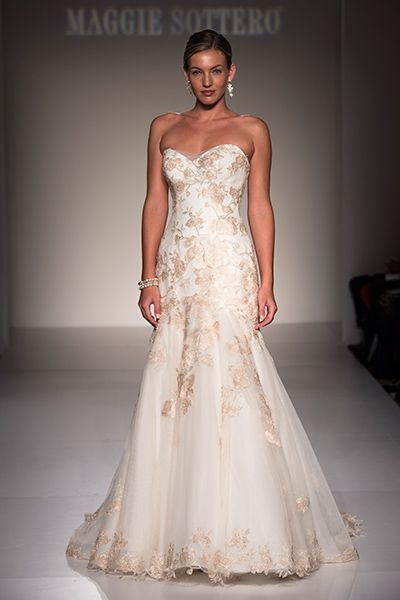 30 Romantic Dresses with Rose Gold Accents | <3 2016 Wedding Gowns ...
