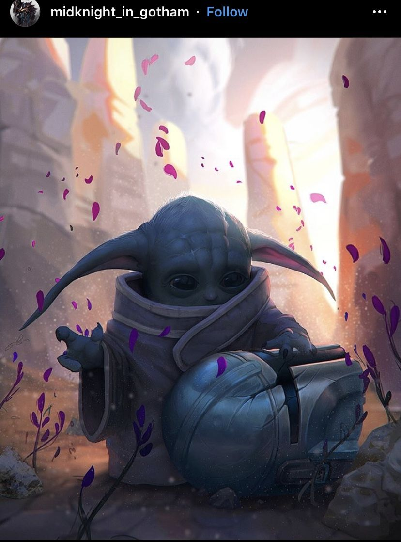 Babyyoda Starwars Artwork Digitalart Wallpaper Colorful Passion Art Star Wars Pictures Star Wars Clone Wars Star Wars Memes