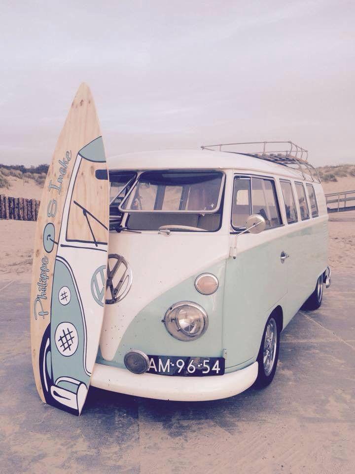 Vw Surf Bus : Yuliia, Drobot, BeEtLeS, Volkswagen, Vans,, Hippie, Surfboard