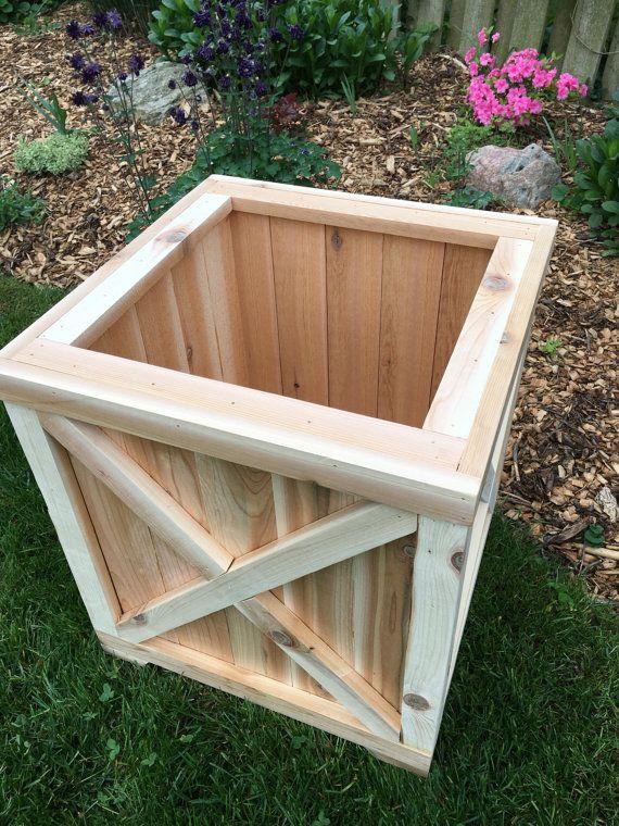 Cedar Planter BoxPlanterWood PlanterCedar BoxOutdoor Wood