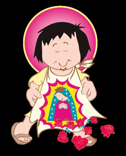 Juandiego Png 420 520 Virgencita De Guadalupe Caricatura Figuras Religiosas San Juan Diego